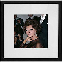 Buy Getty Images Gallery Sophia Loren Framed Print, 59 x 59cm Online at johnlewis.com