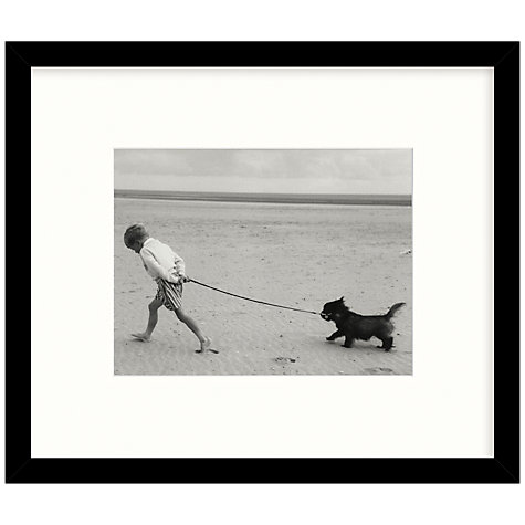 Buy Getty Images Gallery Walking The Dog Framed Print, 56 x 67cm Online at johnlewis.com