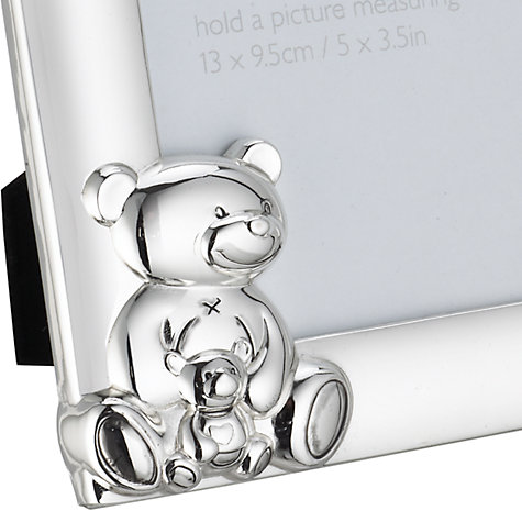 Buy John Lewis Silver Plated Teddy Frame, 13 x 9.5cm Online at johnlewis.com