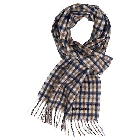 Buy Aquascutum Club Check Scarf, Navy Online at johnlewis.com