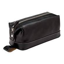 Buy Aspinal of London Classic Leather Wash Bag Online at johnlewis.com