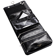 Buy Aspinal of London Men's Leather Hanging Wash Bag, Black Online at johnlewis.com