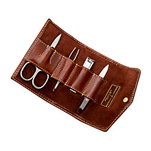 Buy Aspinal of London Men's Leather Manicure Set, Cognac Online at johnlewis.com
