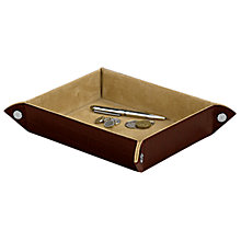 Buy Aspinal of London Leather Tidy Tray, Amazon Brown Online at johnlewis.com