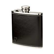 Buy Aspinal of London Leather Hip Flask, Black Online at johnlewis.com