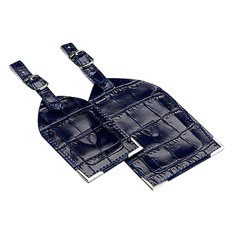 Buy Aspinal of London Leather Luggage Tags, Set of 2 Online at johnlewis.com