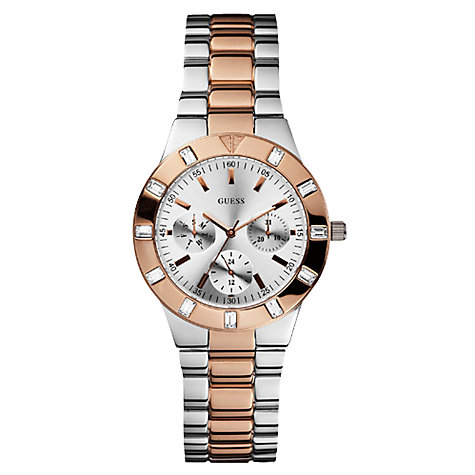 Buy Guess W14551L1 Women's Two Tone Chronograph Bracelet Watch Online at johnlewis.com