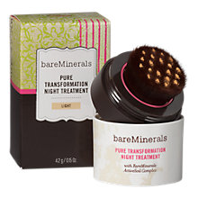 Buy bareMinerals Pure Transformation Night Treatment, Light Online at johnlewis.com