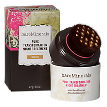 Buy bareMinerals Pure Transformation Night Treatment, Medium Online at johnlewis.com