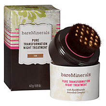 Buy bareMinerals Pure Transformation Night Treatment, Tan Online at johnlewis.com