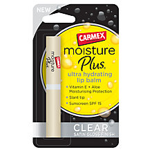 Buy Carmex Moisture Plus Lip Balm, Clear Online at johnlewis.com