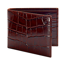 Buy Aspinal of London Mock Croc Calf Leather Billfold Wallet Online at johnlewis.com