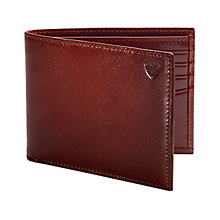 Buy Aspinal of London Smooth Calf Leather Billfold Wallet, Brown Online at johnlewis.com