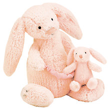 Buy Jellycat Bashful Bunny Musical Pull, Pink Online at johnlewis.com