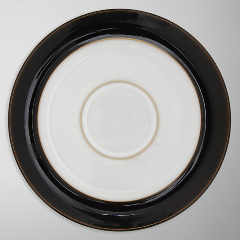 Buy Denby Eclipse Tea Saucer, Dia.16.5cm, Black/White Online at johnlewis.com