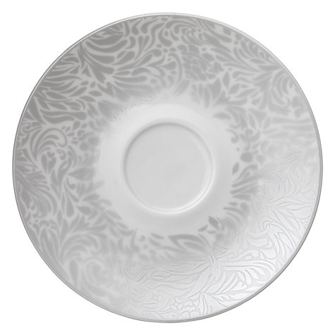 Buy Denby Monsoon Lucille Tea Saucer, Dia.17cm, Silver Online at johnlewis.com