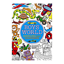 Buy Boys' World Doodling And Colouring Book Online at johnlewis.com
