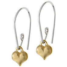 Buy Dower & Hall Gold and Silver Heart Earhooks Online at johnlewis.com