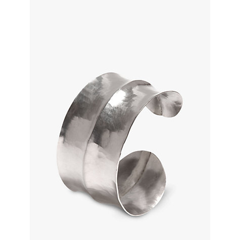 Buy Dower & Hall Sterling Silver Double Concave Hammered Cuff Online at johnlewis.com