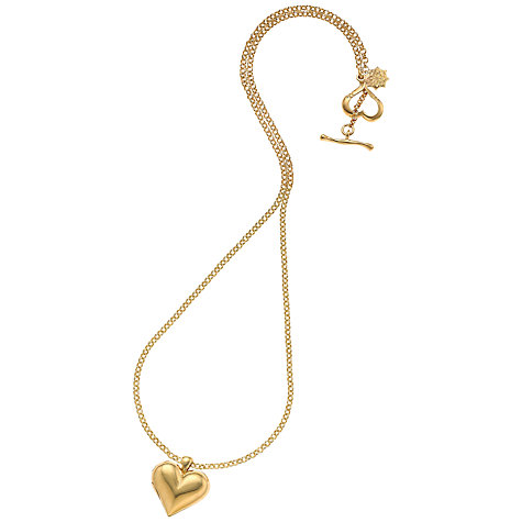 Buy Dower & Hall 18ct Gold Vermeil Heart Locket Online at johnlewis.com