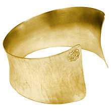 Buy Dower & Hall 18ct Gold Vermeil Flared Cuff Online at johnlewis.com