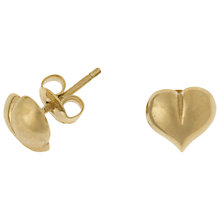 Buy Dower & Hall 18ct Gold Vermeil Heart Stud Earrings Online at johnlewis.com