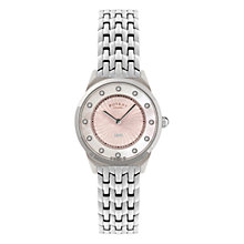 Buy Rotary LB08000/02 Women's Pink Dial Stainless Steel Bracelet Watch Online at johnlewis.com