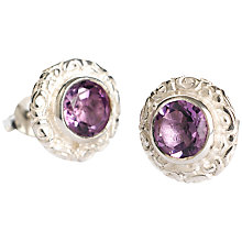 Buy Dower & Hall Sterling Silver Amethyst Stud Earrings Online at johnlewis.com