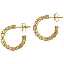 Buy Dower & Hall Gold Plated Chunk Spiral Hoop Earrings Online at johnlewis.com