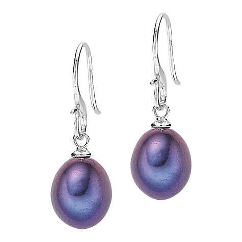 Buy Dower & Hall Oval Pearl Drop Hook Earrings Online at johnlewis.com