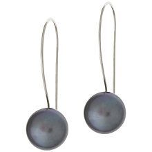 Buy Dower & Hall Peacock Pearl Quatrefoil Drop Earrings, Silver Online at johnlewis.com
