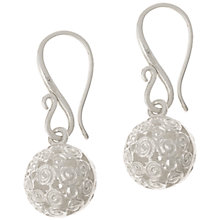 Buy Dower & Hall Spiral Shere Drop Sterling Silver Earrings Online at johnlewis.com