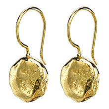 Buy Dower & Hall 18ct Gold Vermeil Irregular Disc Wire Drop Earrings Online at johnlewis.com
