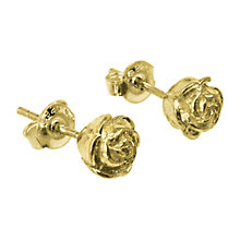 Buy Dower & Hall 18ct Gold Vermeil Medium Rosebud Stud Earrings Online at johnlewis.com