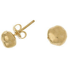 Buy Dower & Hall 18ct Gold Vermeil Nugget Stud Earrings Online at johnlewis.com