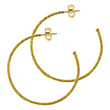 Buy Dower & Hall 18ct Gold Vermeil Spiral Large Hoop Earrings Online at johnlewis.com