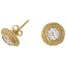 Buy Dower & Hall Vermeil Spiral Topaz Stud Earrings, Gold Online at johnlewis.com
