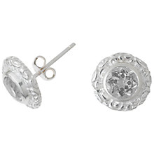 Buy Dower & Hall Sterling Silver Topaz Stud Earrings Online at johnlewis.com