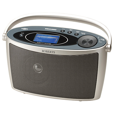 Buy ROBERTS Stream 106X Internet Radio, Silver Online at johnlewis.com