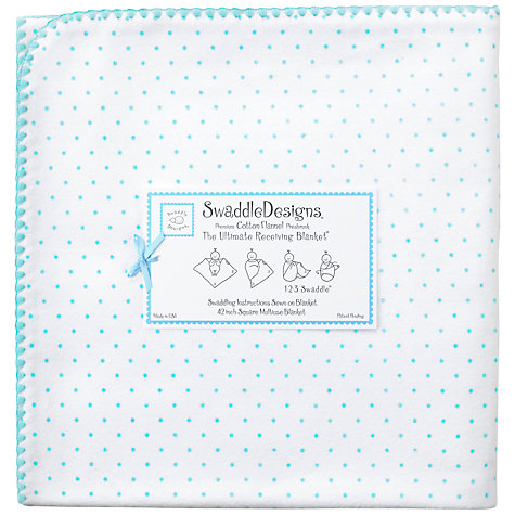 Buy Swaddle Designs Ultimate Receiving Blanket Swaddling Blanket, Light Blue Online at johnlewis.com