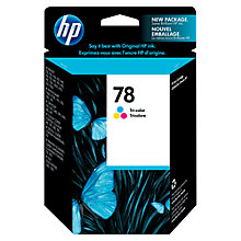 Buy HP 78 Inkjet Cartridges, Tri-Colour, C6578DE Online at johnlewis.com