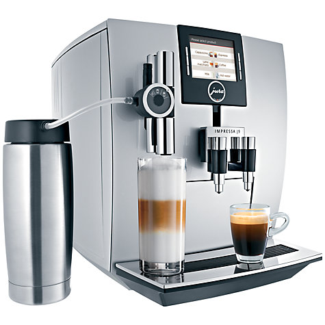 Buy Jura Impressa J9 TFT Bean-to-Cup Coffee Machine, Silver Online at johnlewis.com