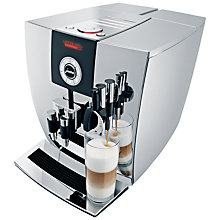 Buy Jura Impressa J9 One Touch Bean-to-Cup Coffee Machine, Silver Online at johnlewis.com