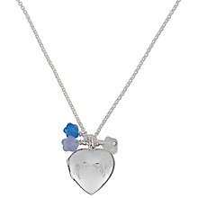 Buy Martick Flower Of My Heart Secret Locket, Silver/Blue Online at johnlewis.com