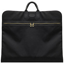 Buy Mulberry Henry Nylon and Leather Suit Carrier, Black Online at johnlewis.com