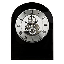 Buy Dartington Crystal Curve Clock, Black Online at johnlewis.com