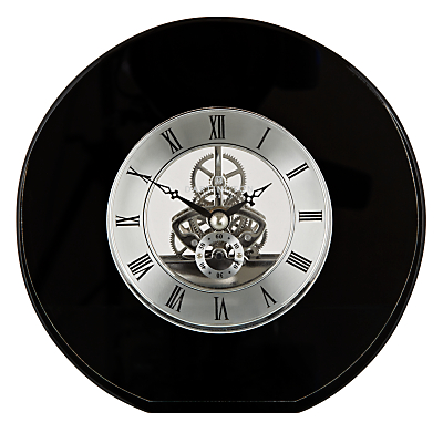 Image of Dartington Crystal Round Clock, Dia. 15cm, Black