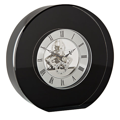 Buy Dartington Crystal Round Clock, Dia. 15cm, Black Online at johnlewis.com