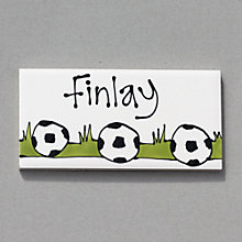 Buy Gallery Thea Personalised Room Plaque, Football Online at johnlewis.com
