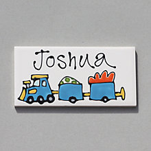 Buy Gallery Thea Personalised Room Plaque, Trains Online at johnlewis.com